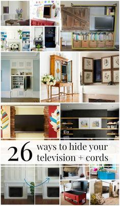 26 Ways to Cut Visual Clutter and Hide Your Television, Electronics, and Cords
