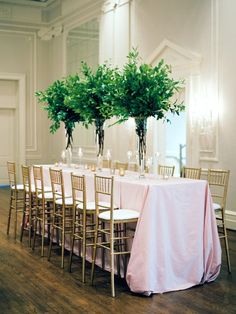 La Tavola Fine Linen Rental: Topaz Blush | Photography: Michelle Boyd Photography, Event Planning & Design: Jessica Rourke, Floral Design: Fern Studio, Rentals: Party Reflections, Venue: Meyers Park Presbyterian Chruch