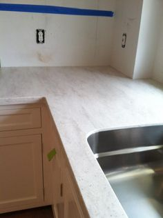 Corian Sea Salt Countertop From The Martha Stewart Collection At Home Depot