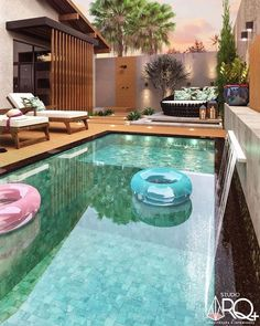 Backyard Pool Landscaping, Backyard Pool Designs, Small Backyard Pools, Small Pools, Backyard Garden Design, Swimming Pools Backyard, Swimming Pool Designs, Patio Design, Pool House Designs