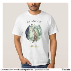Shop Customizable woodland style boho encouragement T-Shirt created by PiccoGrande. Mouth Mask Fashion, Cute Photos, Dog Friends, Colorful Shirts, Boho Fashion, Woodland, Fitness Models, Encouragement, Casual Outfits
