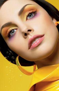 Rainbow pastel makeup