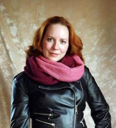 INFINITY SCARF SNOOD made to order a wide ring by LeanaKonovalova