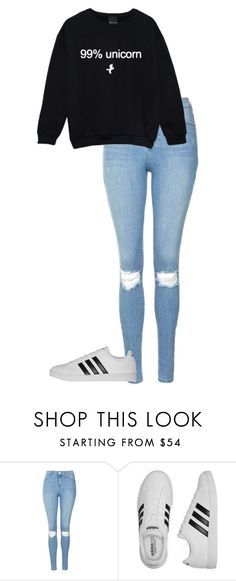 """""""#53"""" by lina-apoelhn ❤ liked on Polyvore featuring Topshop and adidas"""