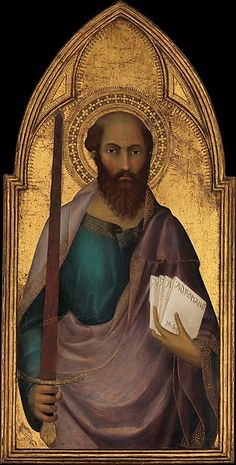Saint Paul - Artist: Lippo Memmi (Filippo di Memmo) (Italian, Sienese, active by 1317–died 1356) Date: ca. 1330 Medium: Tempera on wood, gold ground