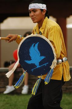 Veterans' Dance    Dine Blue Eagle Dancers from Ft. Defiance, Arizona perform the Veterans' Dance at the Indian Village at the New Mexico State Fair.