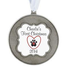 Customizable Pet's First Christmas