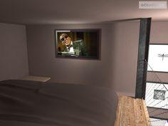 Ložnice s pracovnou a se zvýšeným spaním. Olomouc   očkodesign Flat Screen, Projects, Blood Plasma, Log Projects, Blue Prints, Flatscreen, Dish Display
