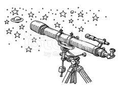 Resultado de imagen para telescope drawing