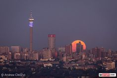 Winter Solstice moon over Joburg, South Africa Solstice Moon, Winter Solstice, South African News, Old Symbols, Moon Rise, Super Moon, Rest Of The World, Vacation Destinations, Seattle Skyline