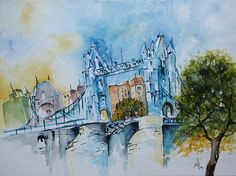 Towerbridge.London. Aquarell 40x30 cm