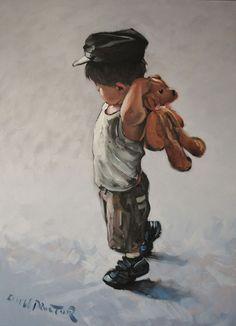 KEITH PROCTOR. with a teddy bear