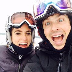 Pin for Later: 33 Snaps That Prove Ian and Nikki Are So in Love  Ian and Nikki went skiing in Sun Valley over the holidays in 2014.