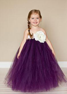 Purple Sash with Flower Petal Girl Dress | Proyectos que intentar ...