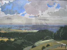 The Vale of Pewsey by Edward Loxton Knight woodblcok print