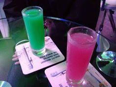 Dr Jekyll (La Clandestine Absinthe, Green Mint Syrup) and Ms Hyde (La Clandestine Absinthe, Cranberry Juice).
