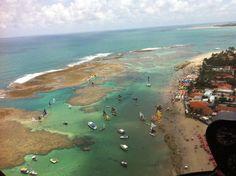 Vista aérea de Porto de Galinhas.