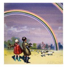 R for Rainbow, Illustration from 'Treasure', 1963 Lámina giclée
