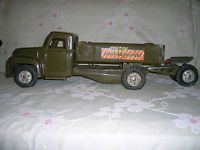 """Vintage 1950's Buddy """"L"""" Steel Army Transport Truck with Cannon!"""