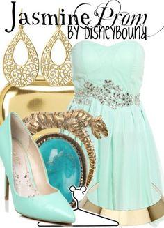 Disney Bound: Jasmine from Disney's Aladdin (Prom Outfit) Disney Themed Outfits, Disney Bound Outfits, Princess Outfits, Princess Clothes, Disney Prom Dresses, Prom Outfits, Cute Outfits, Gala Dresses, Wedding Dresses