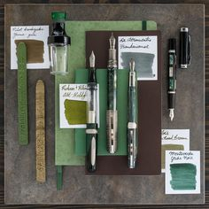 A fountain pen layout inspired by Ancient Chinese ding. Goulet Pens Company, Things Organized Neatly, Pen Collection, Stationeries, Stationery Shop, Pencil And Paper, Pen Case, Journal Notebook, Fountain Pens