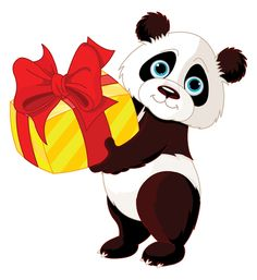 This panda bear wants to wish someone a very special birthday.