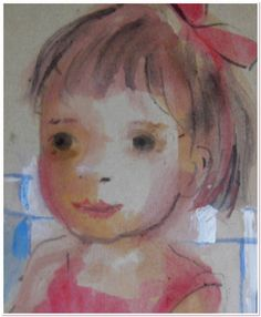 Portrait of a girl Watercolor painting #portrait #childrensportrait Watercolor Paintings, Fine Art, Portrait, Water Colors, Headshot Photography, Portrait Paintings, Watercolour Paintings, Visual Arts, Drawings