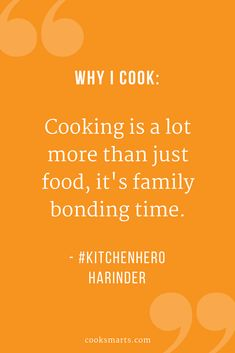 Kitchen Hero Harinder: Cooking with a Family of Five | Cook Smarts - cooking with family, cooking for family, healthy family meals, kitchen hero, hero in the kitchen, cooking community, home cooks, home cooking, healthy cooking, healthy eating, homemade meals, why I cook, cooking quotes, why I cook quotes, get cooking, cooking inspiration, cooking for health, cooking with kids