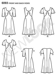 № 8/2012 Simplicity 6093 Line Drawing