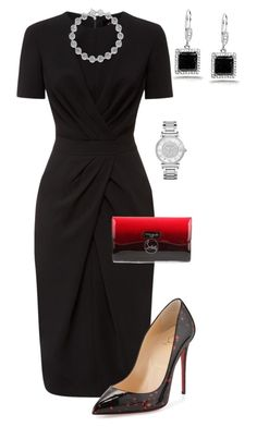 """Untitled #500"" by angela-vitello ❤ liked on Polyvore featuring moda, Jaeger, Christian Louboutin, Kobelli y Michael Kors"