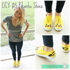 Bunny Blossom: DIY: $15 Painted Pikachu Shoes