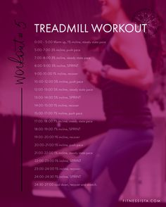 This treadmill workout is the ultimate treadmill workout to burn calories and boost your energy! This fitness workout routine is fast paced and will leave you bursting with energy! | Cardio Workouts | Fitnessista | #fitnessworkoutroutines #cardioworkout #workoutroutine #athomeworkout