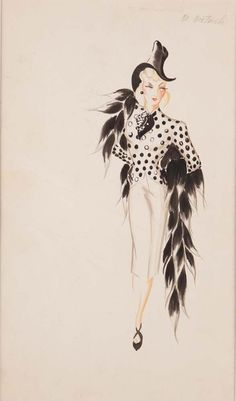 Seven Sinners Costume Sketch by Vera West