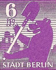 berlin bear postage stamp