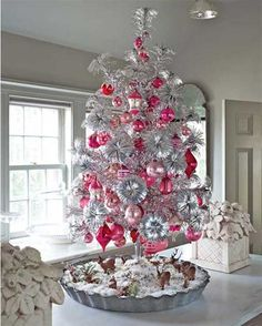 Tabletop christmas tree decorating ideas   Pictures Reference