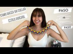 Beaded Collar, Collar Necklace, Diy Paso A Paso, Crochet Video, Diy Tutorial, Diana, Crochet Necklace, Youtube, Fashion