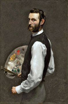 Frederic Bazille - Self Portrait. Bazille died a few years after he painted this painting in the Franco-Prussian War. He was a close friend of Monet, Sisley, and Manet. Montpellier, Charles Gleyre, French Impressionist Painters, L'art Du Portrait, John William Waterhouse, Frederic, Chicago Art, Art Institute Of Chicago, Famous Artists