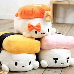 JAPAN SUSHI Plush CUSHION Pillow fun cute Microfiber