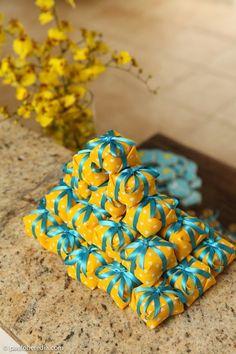 Decoração de casamento   Azul e Amarelo