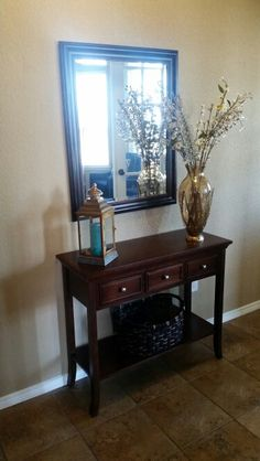 entryway table and mirror. very consoling; console table project: guest \u2013 remodelaholic   organization diy pinterest tables, consoles and happy dance entryway mirror