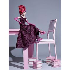 Zuzanna Bijoch's Pink Portrait By Pedro Sales For Vogue Brazil... ❤ liked on Polyvore featuring models and pic