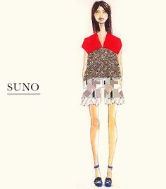 Inspiration behind Suno's Spring 2014 collection
