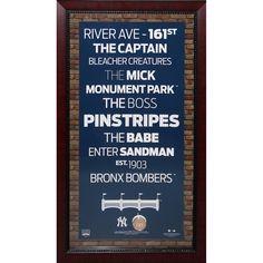 Steiner New York Yankees Subway Sign 16x32 w/ Authentic Dirt from Yankee Stadium
