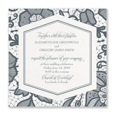 What could be more romantic than a floral lace, kraft wedding invitation? One that lets you choose the color of the design! Also choose the trim option for style. Kraft Wedding Invitations, Floral Invitation, Celebrity Weddings, Floral Lace, Romantic, Kraft Paper, Color, Design, Studio