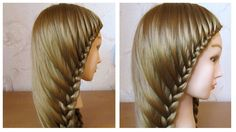 Simple hairstyle for long hair  Hair styling with easy braid on yourself