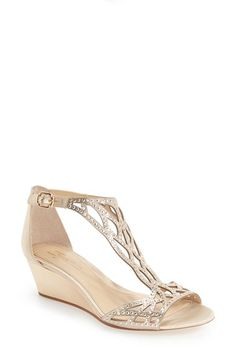 Free shipping and returns on Imagine by Vince Camuto 'Jalen' Wedge Sandal (Women) at Nordstrom.com. Sparkling crystals embellish the cutout…