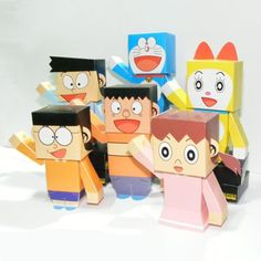 Tektonten Papercraft - Free Papercraft, Paper Models and Paper Toys: Doraemon Paper Toys