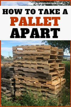 Pallet projects are fun but usually you will need to take them apart to work with them. Here's an easy way to take a pallet apart! via @delciplouffe Wooden Pallet Projects, Wooden Pallet Furniture, Pallet Crafts, Wooden Pallets, Pallet Ideas, Pallet Wood, Outdoor Pallet, Wood Ideas, Furniture Ideas