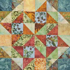 By Therese Eisinger for Quiltmakers 100blocks. Volume 2.