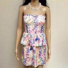 Multi Kiwi Floral Dress
